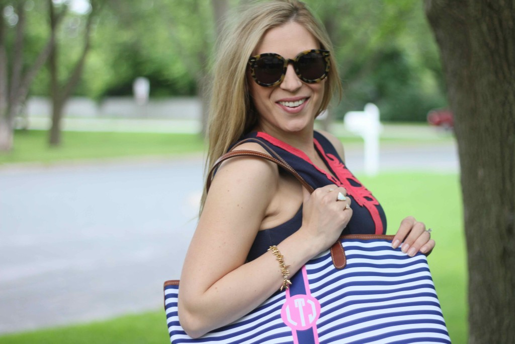 Summer in Lilly... - Pink and Navy StripesPink and Navy ...