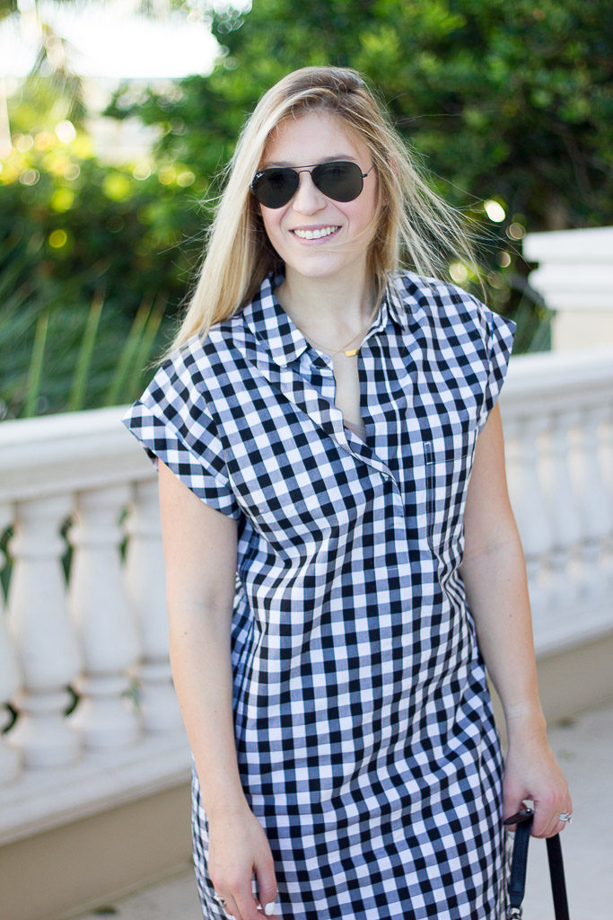 SHORT-SLEEVE Chambray SHIRTDRESS