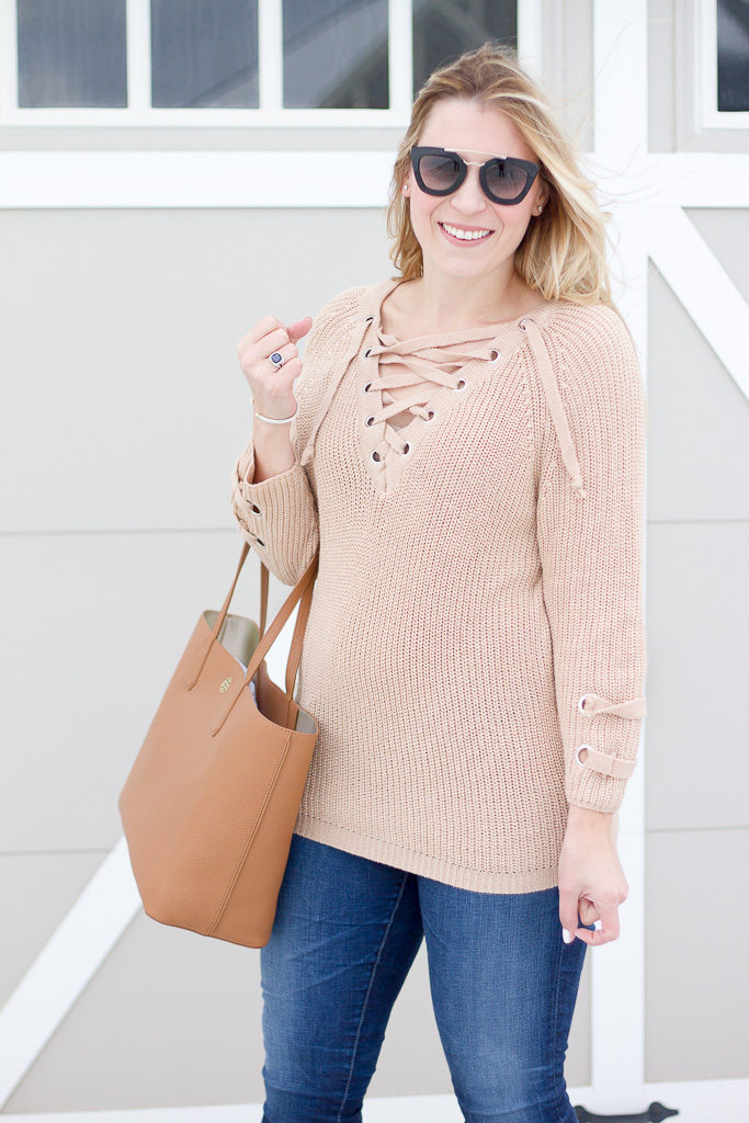 Chicwish lace up sweater