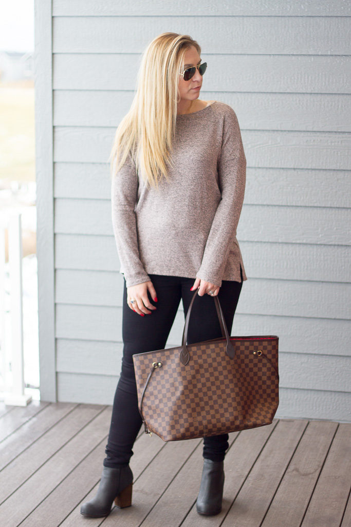 Cozy Fleece Ballet Neck High/Low Pullover